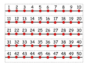 printable number lines to 50 number line mini personal number line by ella frazier tpt