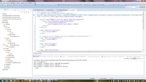 log4j xml maven and log4j log4j warn no appenders could be found