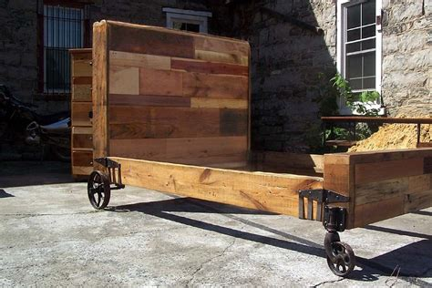 punk bedding buy hand crafted steunk bed from reclaimed wood and vintage iron wheels made to