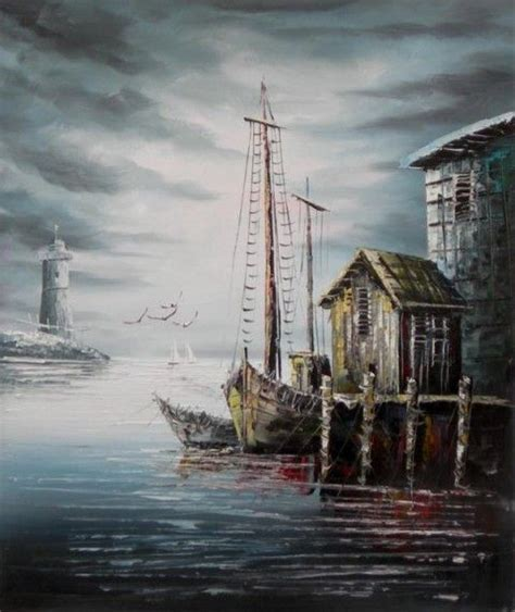bob ross painting dock the call of seabirds the moan of the weather buoy and