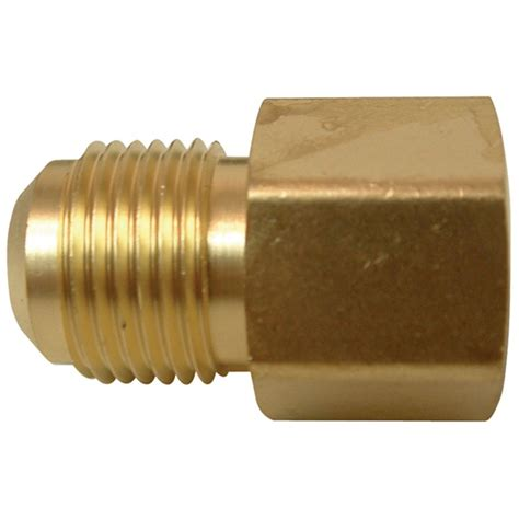 watts brass flare to pipe coupling 3 8 x 3 8