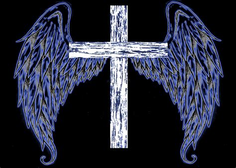 tattoos of crosses with angel wings cross with wings by jaruesink on deviantart