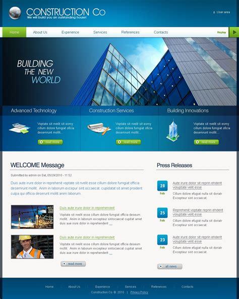 drupal themes review site construction company drupal template 29068