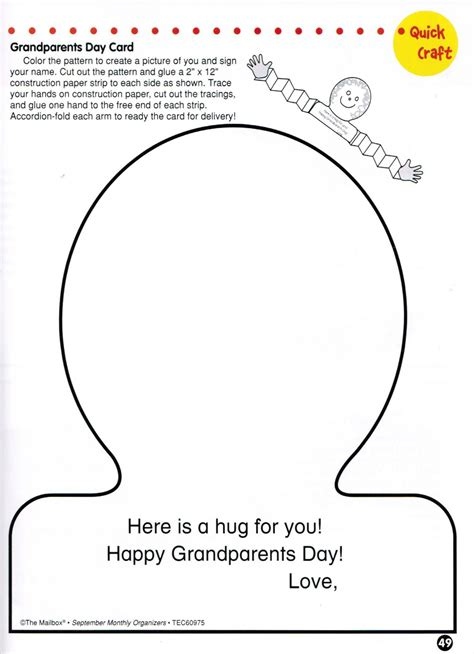 s day card preschool grows template grandparents day card compliments of the organize