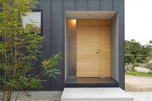 Contemporary Exterior Doors Modern Exterior Door And Vertical Metal Siding Chukuzen