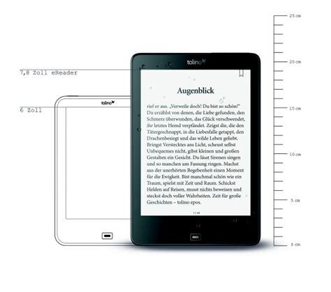 ebook format vergleich neu tolino epos mit 7 8 tolino im gro 223 format