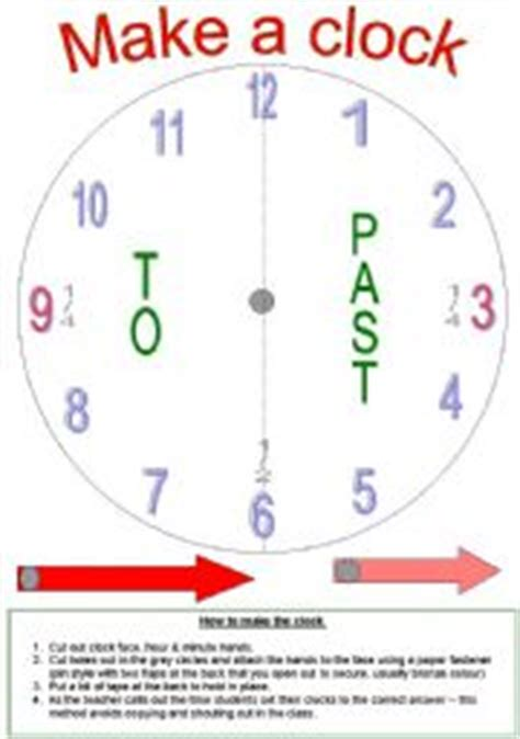 make a clock template teaching worksheets the clock