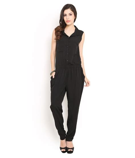 Trend Jumpsuit buy trend arrest black polyester jumpsuits at best