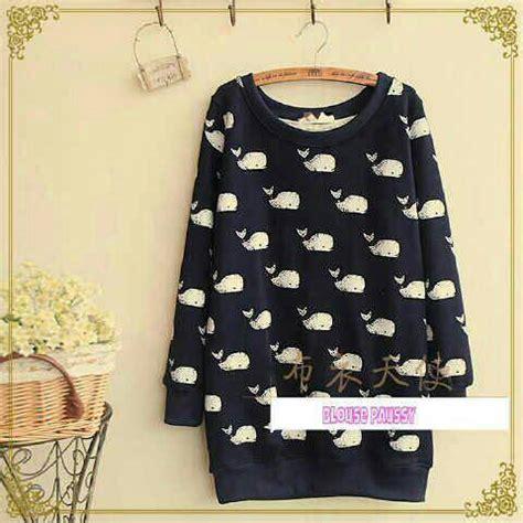 Baju Blouse Wanita Atasan Baju Wanita baju atasan wanita blouse motif paus cantik murah terbaru