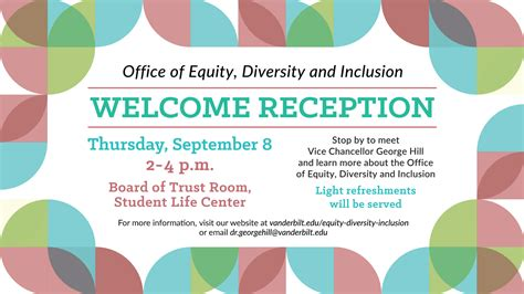 Vanderbilt Mba Invitation Date by Edi Welcome Reception Invite Digital Equity Diversity