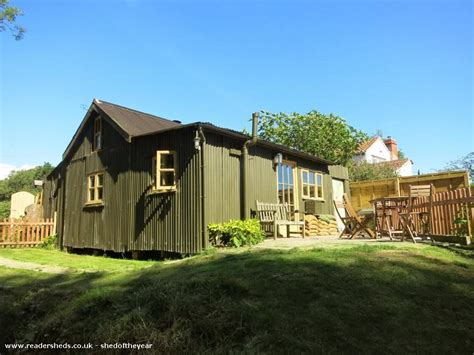 land girls wwii tin cabin vacation rental in england corrugated cottage historical from garden owned by
