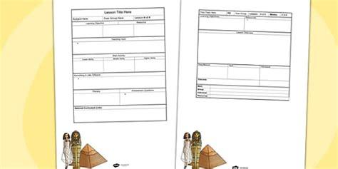 lesson plan template gaeilge ancient egypt editable individual lesson plan template plans