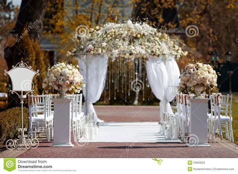 Wedding No Arch by Wedding Arch In The Garden Stock Photo Image Of Archway