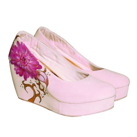 Sepatu Wanita Wedges Eh13 Krem Coklat sepatu wedges toko fashion terbaru model terbaru