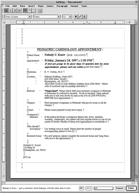 document database template esd document database