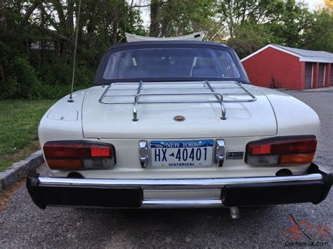 1980 fiat spider convertible 1980 fiat 2000 spider convertible on historic policy