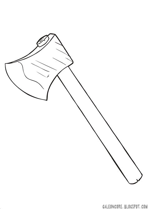 coloring page of hatchet free coloring pages of axe