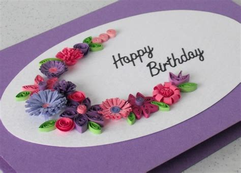 Handmade Quilling Greeting Cards - items similar to handmade quilled birthday greeting card