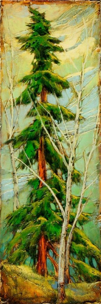 acrylic painting evergreen trees paintings artworks evergreen and trees