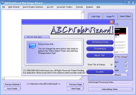web layout program abcwebwizard website design software download