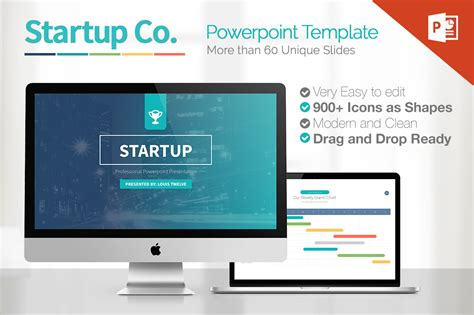 Startup Powerpoint Presentation Template On Behance Startup Powerpoint Template