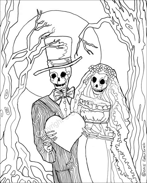 skeleton day of the dead coloring pages coloring pages skeleton wedding color page day of the dead