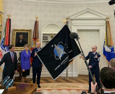 space force flag unveiled  white house ceremony