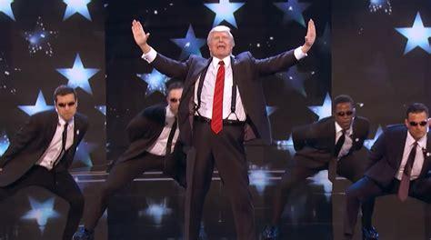 donald trump on america got talent singing trump performs backstreet boys medley on