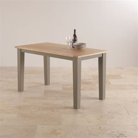 st ives light grey painted acacia dining table 6 leather