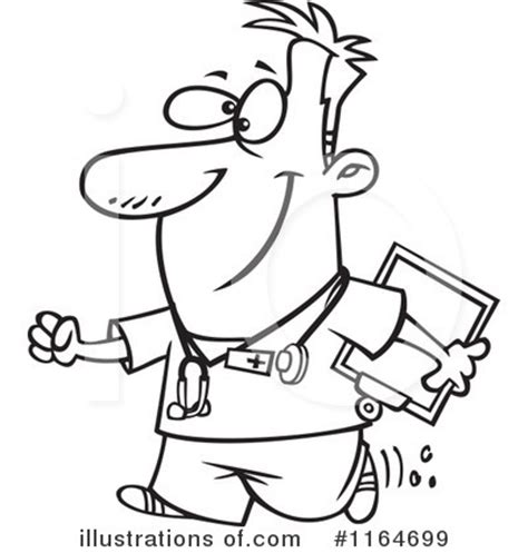 coloring pages of male nurses nurse clipart 1164699 illustration by toonaday
