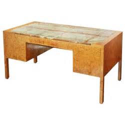 burl wood desk custom burl wood desk with onyx top at 1stdibs