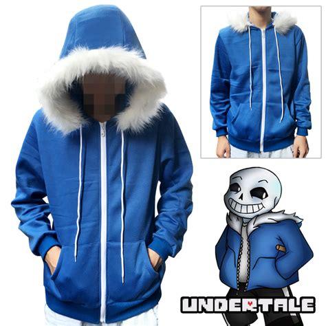 Hoodie Undertale Sans 2 new undertale villus sans blue thickening hoodie zipper sweater hooded on