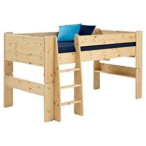 Toddler Elevated Beds Beds Steens Pine Mid Sleeper Raised Childrens Single