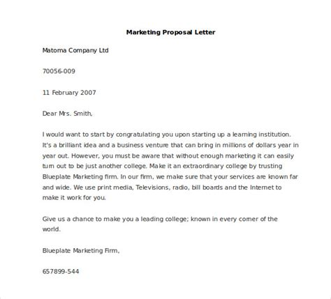 Business Letter Format Distribution marketing letter template 38 free word excel pdf