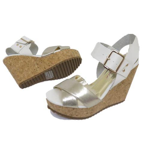 silver wedges shoes dolcis white silver cork wedges platform sandals