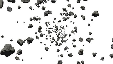 25 flying stone brushes file format photoshop and pdf coffee beans slow falling 3d animation on white background