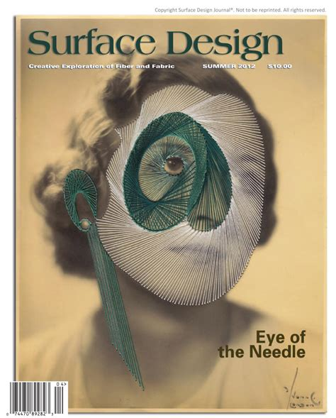 surface design journal back issues surface design journal summer 2012 sle issue by