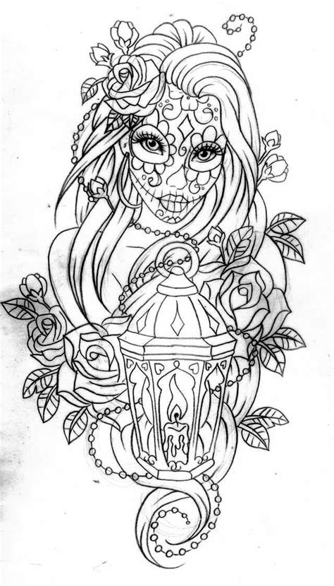 coloring pages for adults already colored day of the dead coloring page coloring pages momma