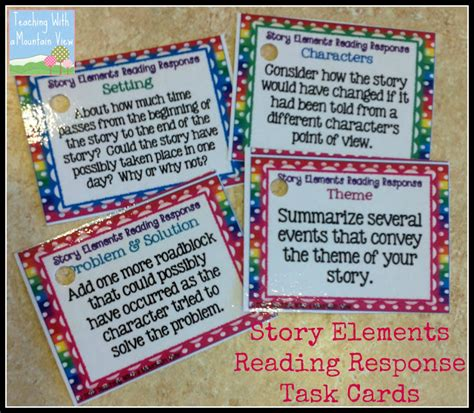 classroom response cards template task card corner using task cards for reading response