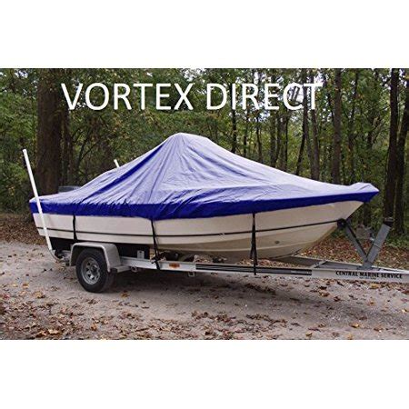 18 center console boat covers vortex heavy duty blue center console boat cover for 17 7
