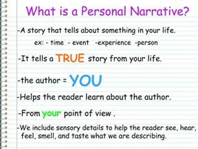 Personal Narrative Essay Exles For 5th Grade by What Is A Personal Narrative Writing A Personal Narrative