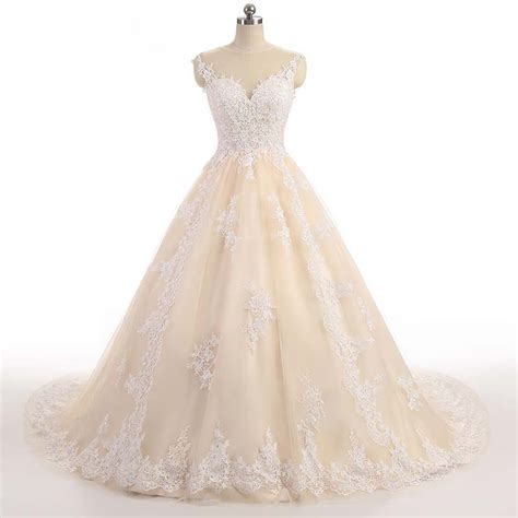 Shoulder Lace Wedding Dress luxury lace shoulder princess wedding dress