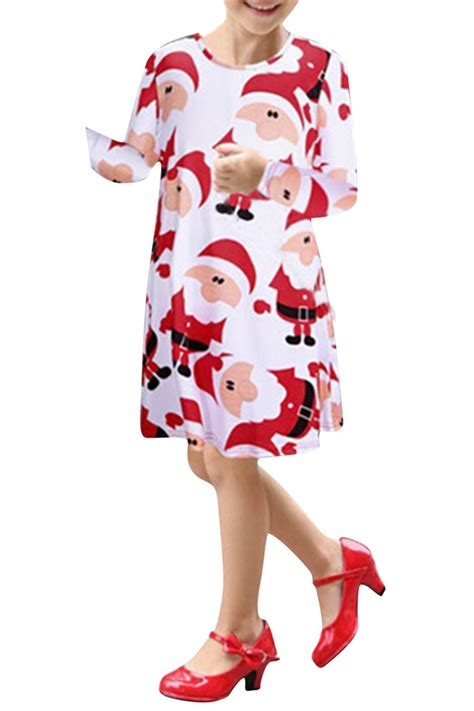 Sabrina Dress Tosca Import 1322 womens santa claus print sleeve dress pink