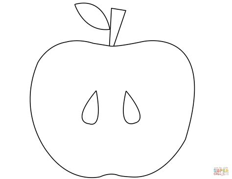 apple half coloring page apples coloring pages pictures coloring pages of an