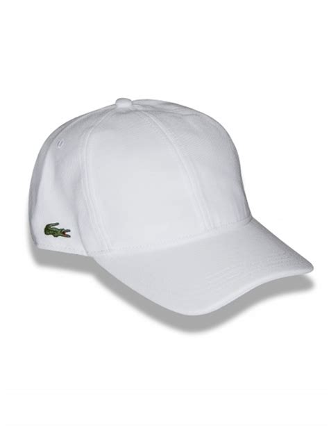 Lacoste Baseball Cap In White mens lacoste cap accessories discounted mens lacoste