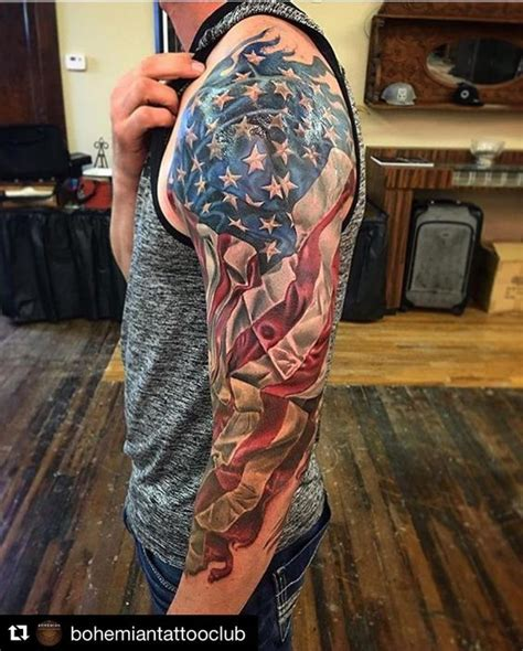 american flag sleeve tattoos 30 patriotic american flag sleeve amazing