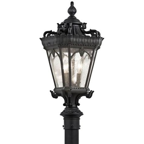 Tournai Three Light Textured Black Outdoor Post Mount Outdoor Lighting Post Mount