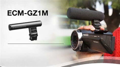 Sony Ecm Gz1m Zoom Microphone With Multi Interface Shoe sony ecm gz1m richtmikrofon f 252 r den multi interface shoe