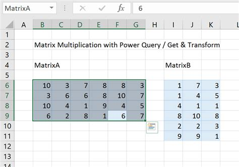 excel matrix multiplication replacing mmult with power