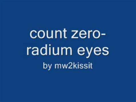 Count Zero radium count zero